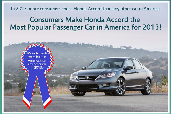 Honda Accord 2013's Most Popular