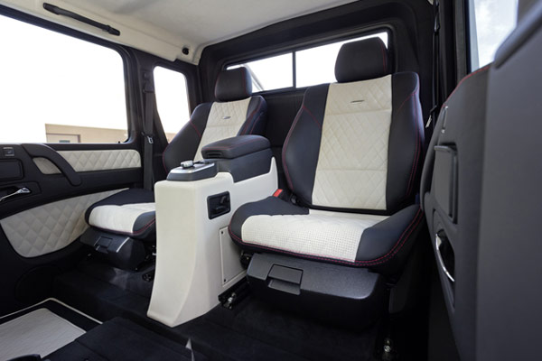 G63 AMG 6X6 Interior Backseat