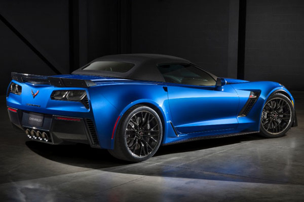 Rear or 2015 Chevrolet Corvette Z06 Convertible