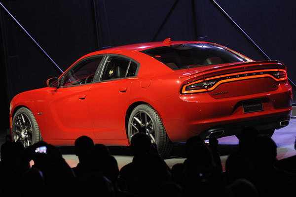 Rear of 2015 Dodge Charger RT