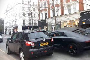 London Aventador Crash