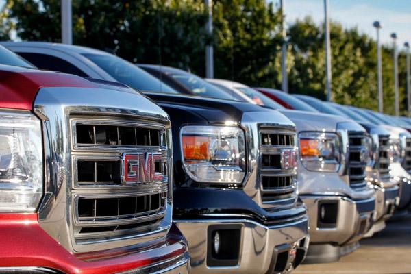 GMC Vehicle Lot