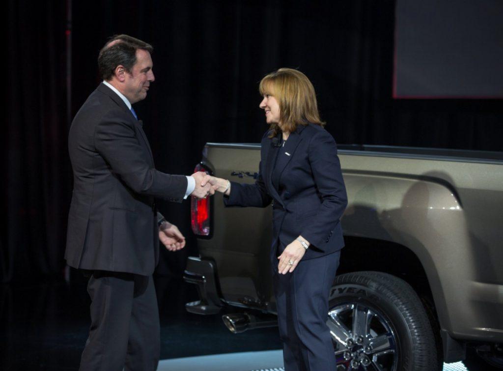 GM CEO Mary Barra and Executive Mark Reuss