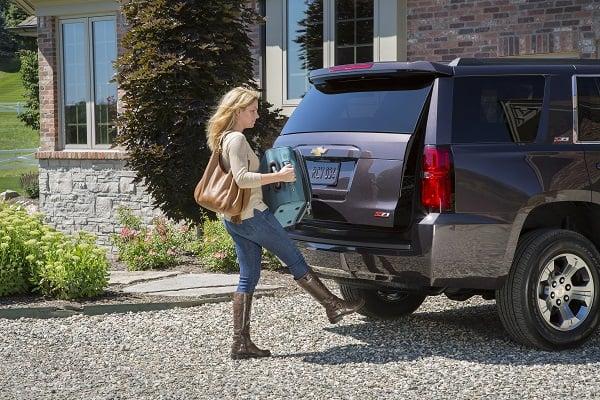 2015 Chevrolet Tahoe hands-free power lift gate.