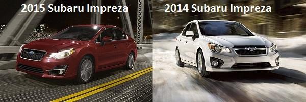 2015 Impreza vs. 2014 Impreza