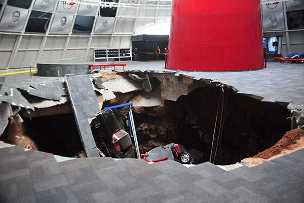 Sinkhole in Corvette Museum