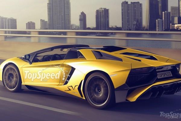 2016 Lamborghini Aventador SV Roadster rendering