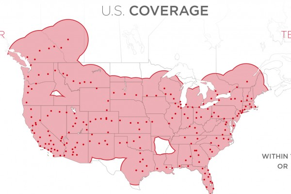 Tesla Supercharger coverage map