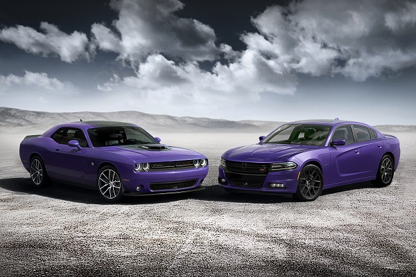 2016 Dodge Challenger & Charger in Plumb Crazy Purple