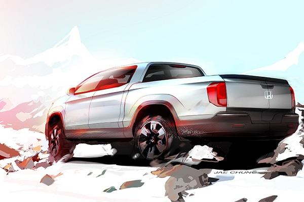 Honda Ridgeline preview sketch