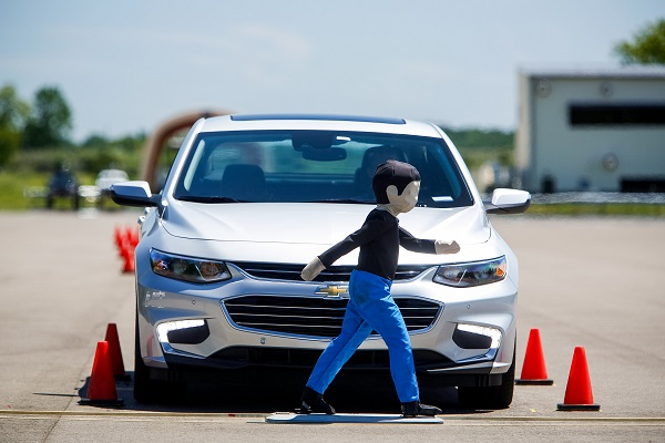 GM shows off its Front Pedestrian Braking.