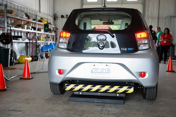 Scion iQ Wireless Charging Test Vehicle