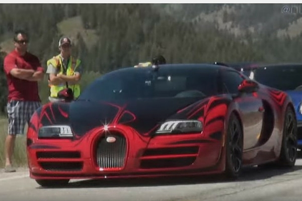 Bugatti Veyron at the Sun Valley Road Rally