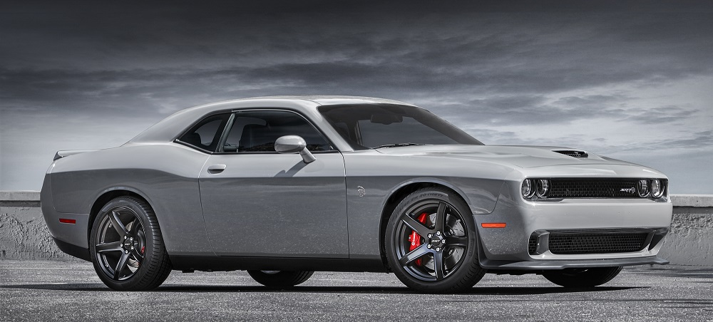 2018 Dodge Challenger SRT Hellcat features low-gloss black light