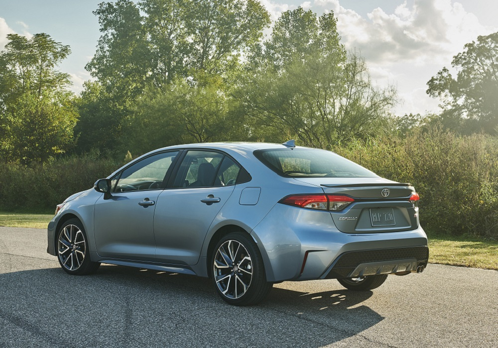 New LED taillights on the 2020 Toyota Corolla